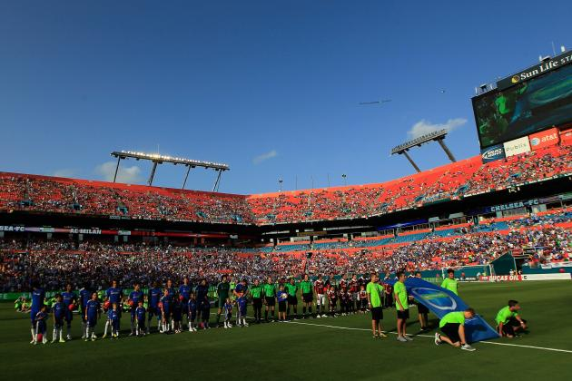 Chelsea vs. AC Milan: View from Sun Life Stadium in Miami