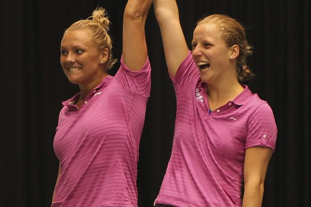 U.S. Olympic Divers Kelci Bryant, Abby Johnston Spring Huge Surprise in London