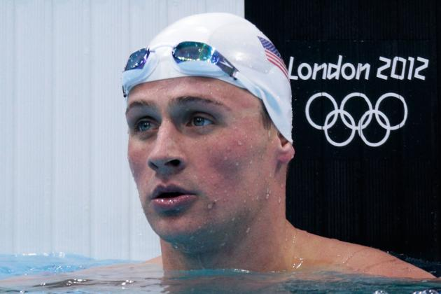Ryan Lochte Loses the Lead in the Last 50 Meters of the 4x100-Meter Free Relay