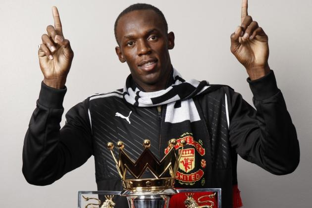 Video: Usain Bolt Auditions for a Move to Manchester United