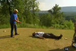 John Daly Drives Golf Ball Off of David Feherty's Face