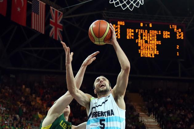 Olympics Basketball 2012: Manu Ginobili Looks Timeless, Even as His Clock Ticks