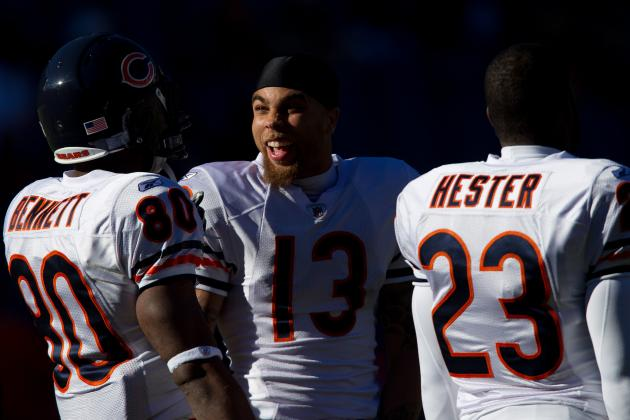 Chicago Bears Training Camp Battle: No. 2 Wide Receiver-Hester, Bennett, Jeffery