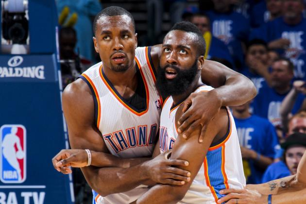 NBA Rumors: OKC Thunder Should Focus on Keeping Serge Ibaka, Not James Harden