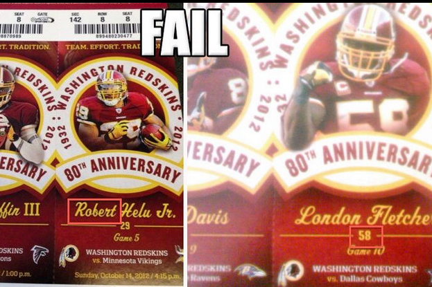 Redskins' Epic Season Ticket Fail