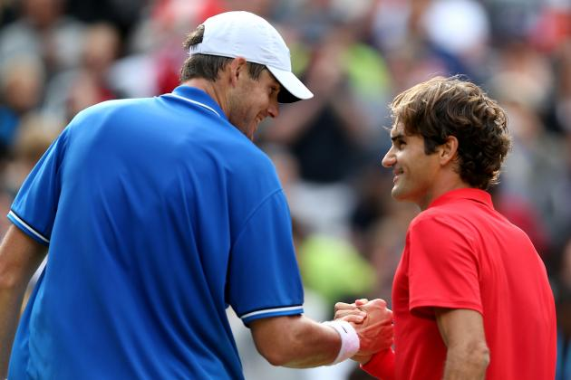 2012 Olympics Quarterfinals: Roger Federer Defeats John Isner in Tight Match