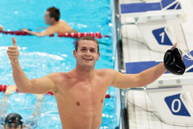 Tyler Clary Wins 2012 Olympic Swimming Men's 200-Meter Backstroke Gold Medal