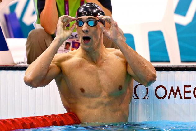 Michael Phelps Wins 2012 Olympic Swimming Men's 200-Meter IM Gold Medal