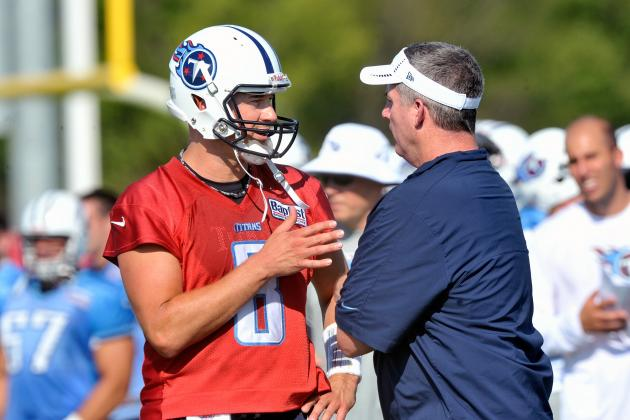 Tennessee Titans Training Camp Headlines: Hasselbeck and Locker Battle on