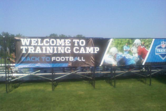 Detroit Lions: Friday Training Camp Lowdown