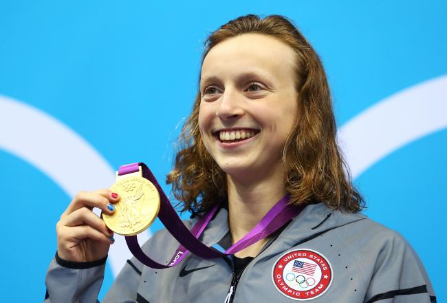 Katie Ledecky, 15, approached an Olympic record in the 800 free.