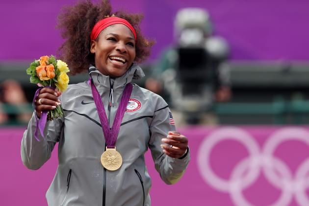 Serena Williams Defeats Maria Sharapova to Win Gold Medal in Women's Tennis