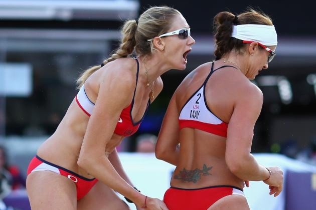 Olympic Volleyball 2012: Misty May-Treanor & Kerri Walsh Day 9 Results