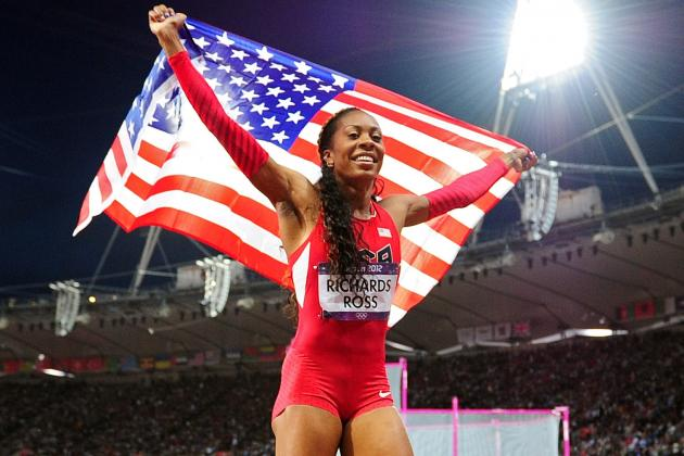 Sanya Richards-Ross Takes Gold for Team USA in Women's 400m