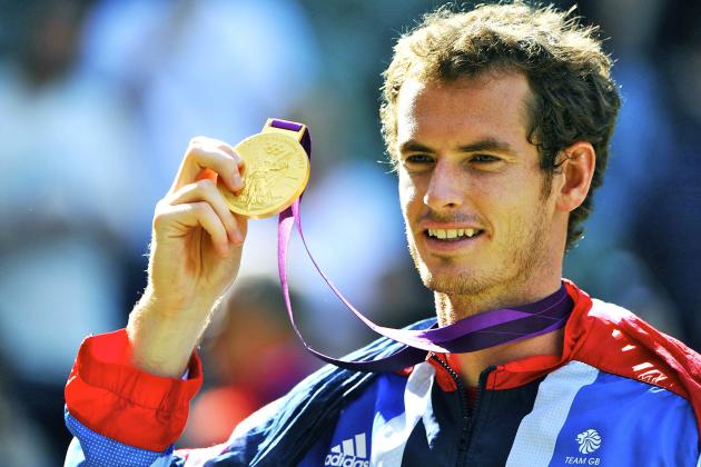 Andy Murray Defeats Roger Federer To Win 2012 Olympic Men's Tennis Gold Medal