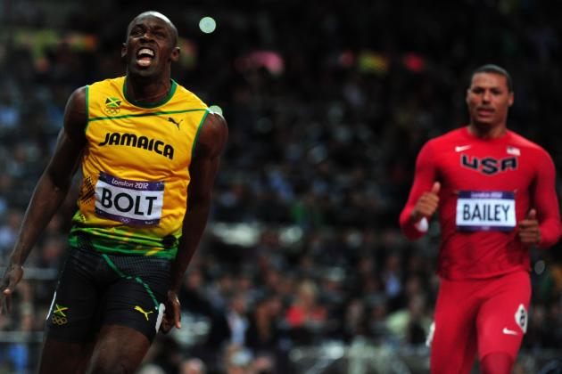 Usain Bolt Wins Men's 100-Meter Dash, Sets New Olympic Record