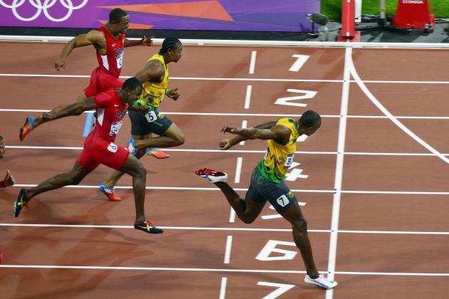 2012 Olympics Track & Field: Blake Can't Catch Lightning Bolt.