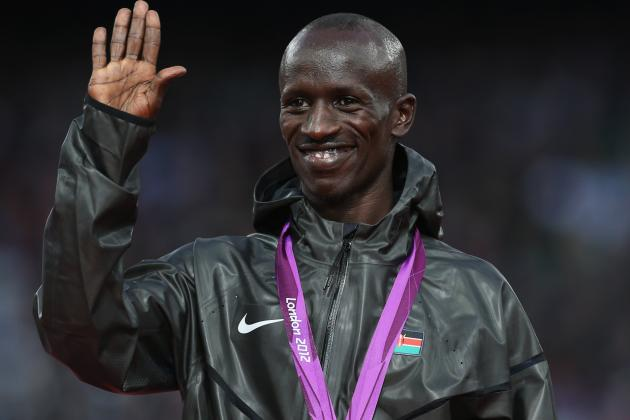 Kenyan Ezekiel Kemboi Dances After Winning Men's Steeplechase
