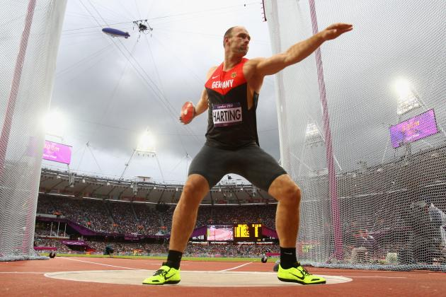 Olympic Track and Field: Robert Harting of Germany Wins Gold in Men's Discus