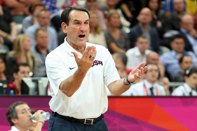 Team USA Basketball 2012: Does Coach K Run Up the Score Against Lesser Teams?