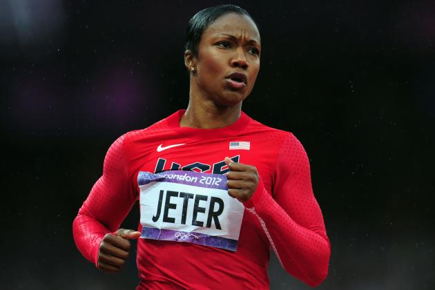 Carmelita Jeter Wins 2012 Olympic Women's 200m Bronze Medal