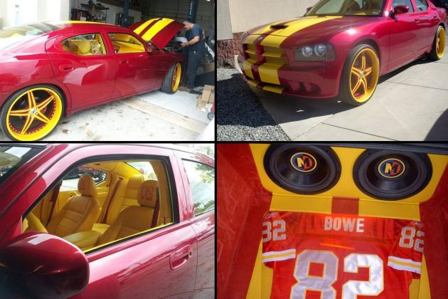 Kansas City Chiefs: Dwayne Bowe Has a Custom Chiefs Dodge Charger