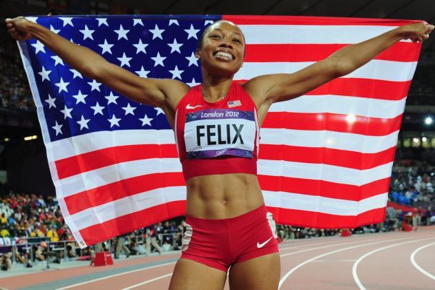 Allyson Felix Wins 2012 Olympic Women's 200-Meter Gold Medal