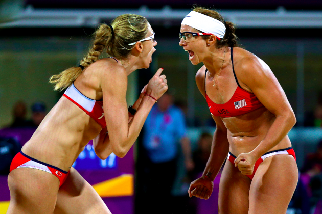 Misty May-Treanor and Kerri Walsh Win Gold Medal in Beach Volleyball Final