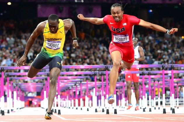Aries Merritt and Jason Richardson Take Gold and Silver in 110m Hurdles