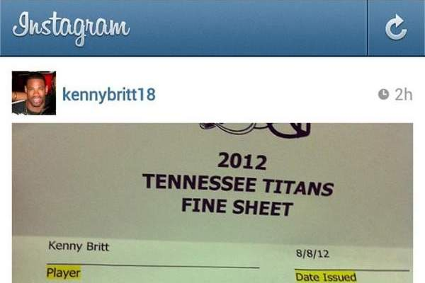 Kenny Britt's Public Gripes About Fine May Be the Final Straw for the Titans