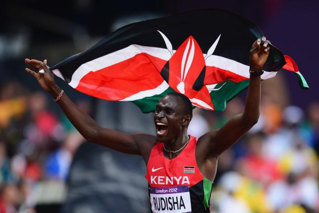 David Rudisha Sets World Record in Men's 800-Meter Dash Win