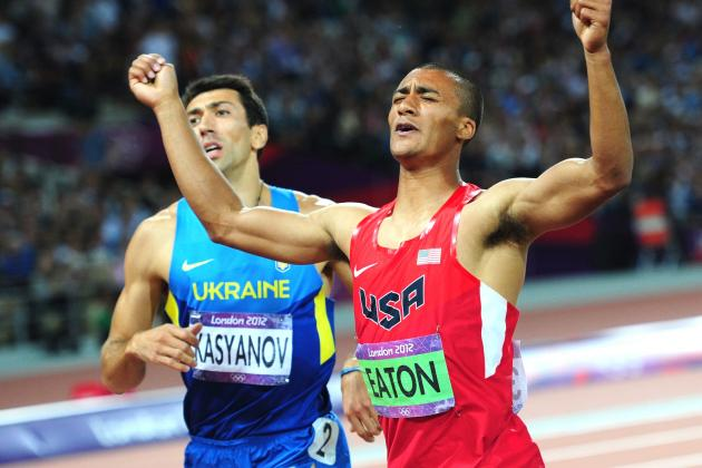 World-Record Holder Ashton Eaton Wins Gold Medal in Decathlon