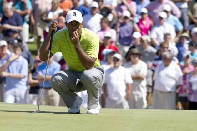 PGA Championship 2012 Leaderboard: Putting Will Be Key to Tiger Woods' Success