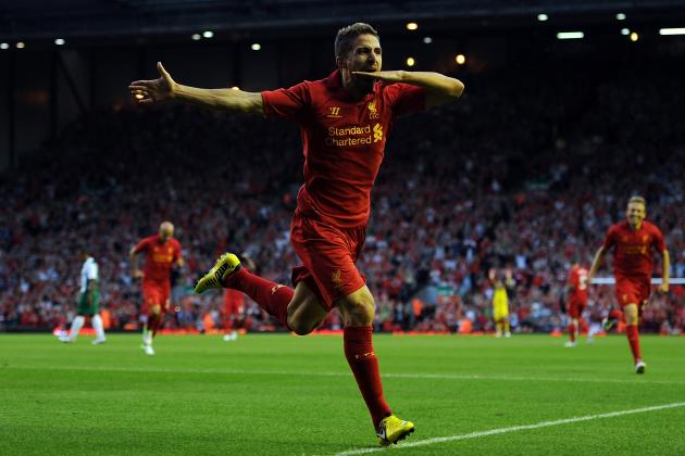 Fabio Borini Opens His Anfield Scoring Account with Volley Against FC Gomel