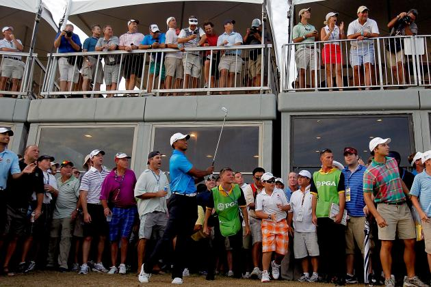 PGA Championship Leaderboard: Tiger Woods, Vijay Singh, Carl Pettersson on Top