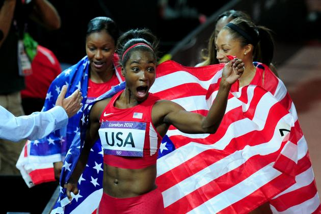 Olympic Track and Field 2012: Team USA Demolishes the World Record in 4x100m