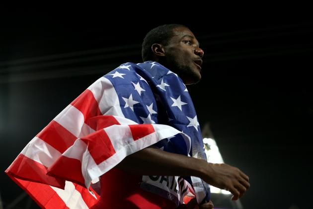 Tyson Gay, Justin Gatlin & Team USA Win 2012 Olympic Men's 4x100m Silver Medal