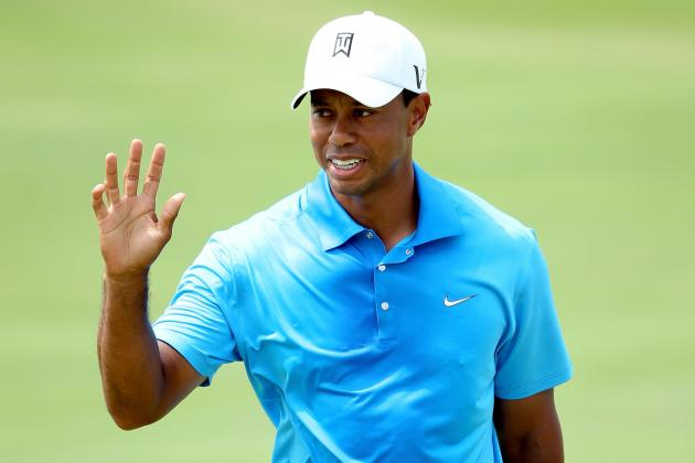 "PGA Championship 2012: Tiger Survives ""Dyeabolical"" Ocean Course on Day 2"