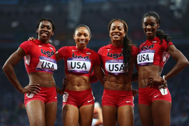 Sanya Richards-Ross, Allyson Felix and USA Win Gold in 4x400-Meter Relay