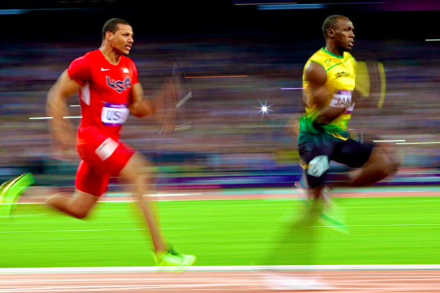 Usain Bolt,  Jamaica Win Men's 2012 Olympic 4x100-Meter-Relay Gold Medal