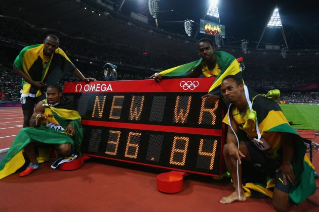 Olympic Results 2012: Usain Bolt and Jamaica Set New WR in 4x100-Meter Relay