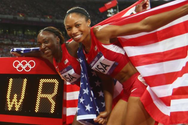 London 2012 Track & Field: US Women's 4x100M World Record a True Olympic Feat