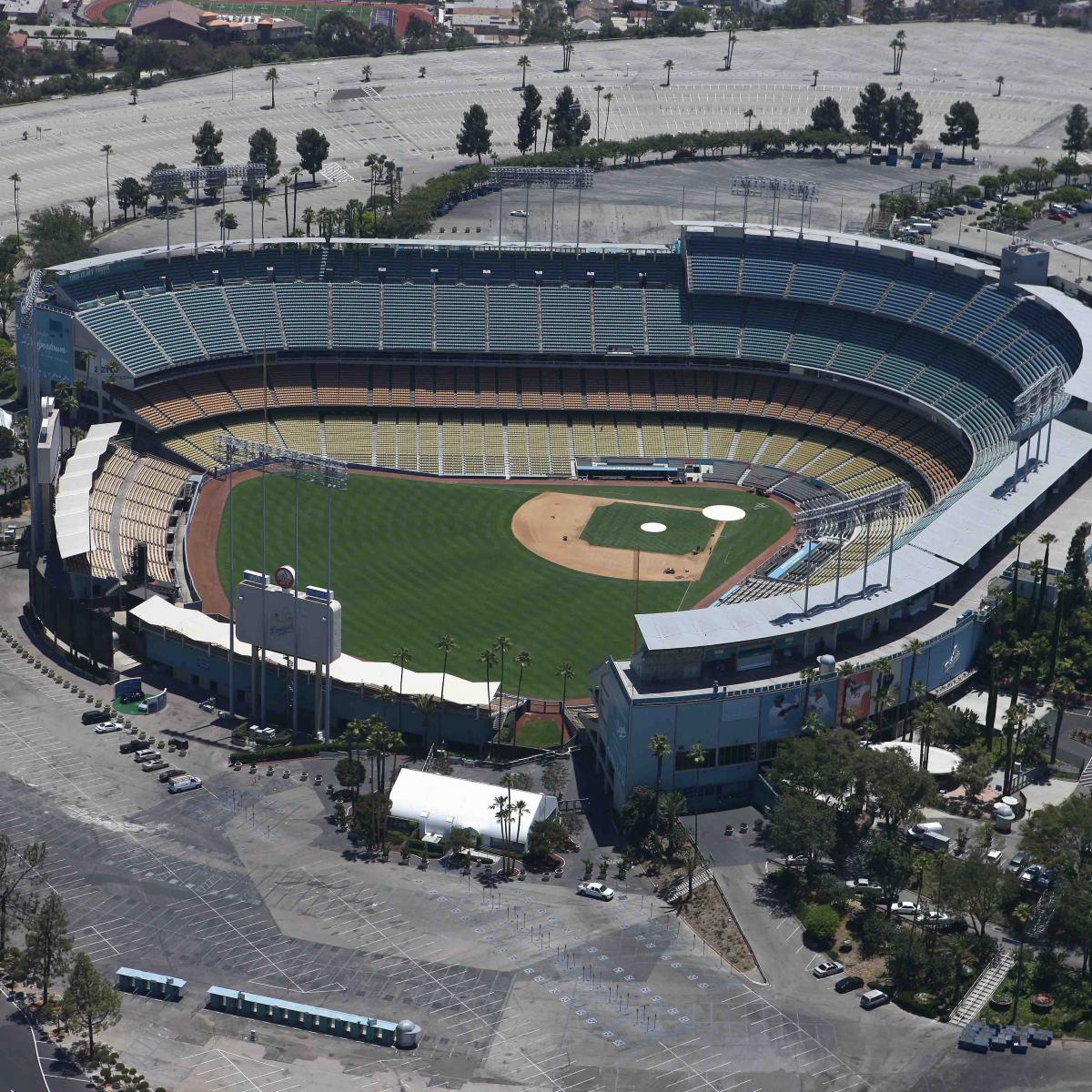 los angeles dodgers   stadium design    chavez ravine bleacher report