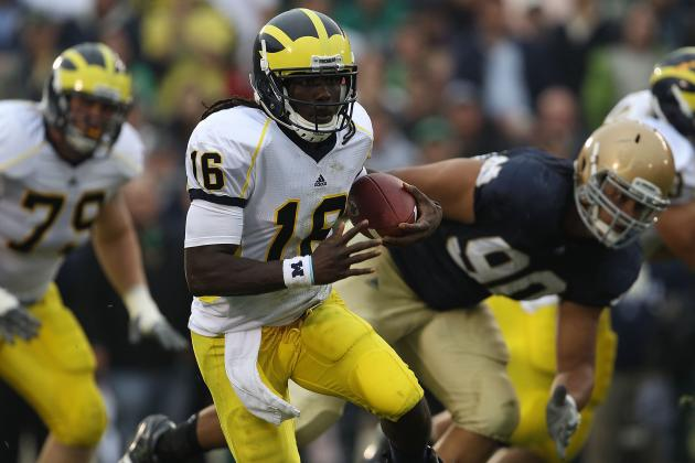 Michigan Football: No, Denard Robinson Cannot Beat Usain Bolt in a 40-Yard Dash