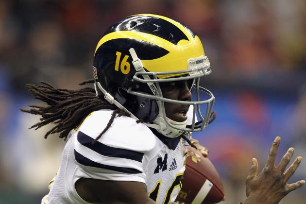 Could Michigan QB Denard Robinson Beat Usain Bolt in the 40-Yard Dash?