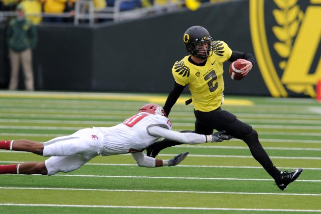 Oregon Football 2012: Ducks' QBs Get to Use Scrimmage Tempo to Separate