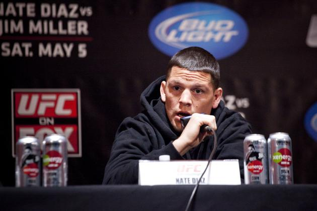 Nate Diaz Says F--- the Belt, He's Trying to Beat the World's Best Lightweight