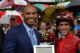 Mariano Rivera Enjoys a Day at Saratoga