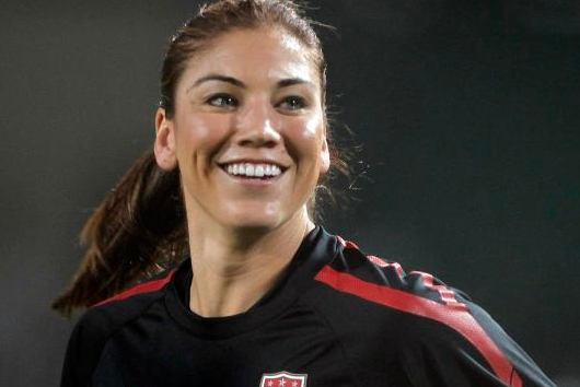 Hope Solo Gets Physical