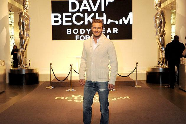 LA Galaxy Star David Beckham Gets Sculpted with H&M Sexy Statue Release